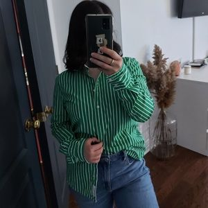 Tommy hilfiger overshirt striped green